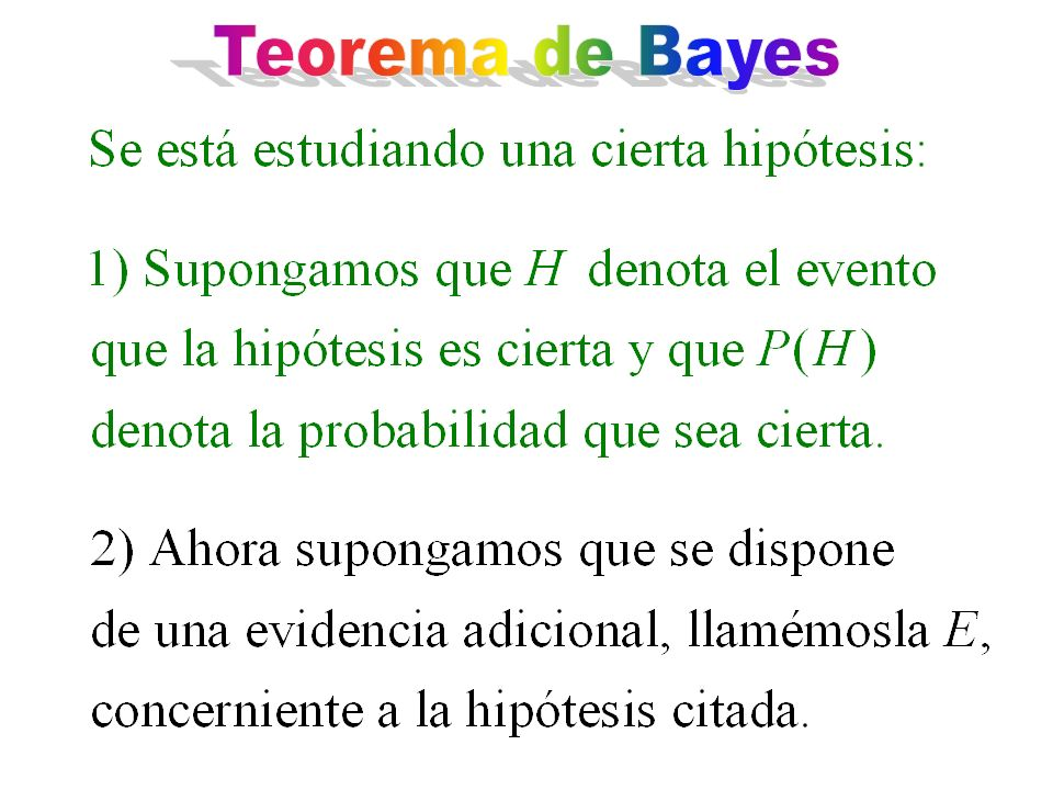 Teorema de Bayes