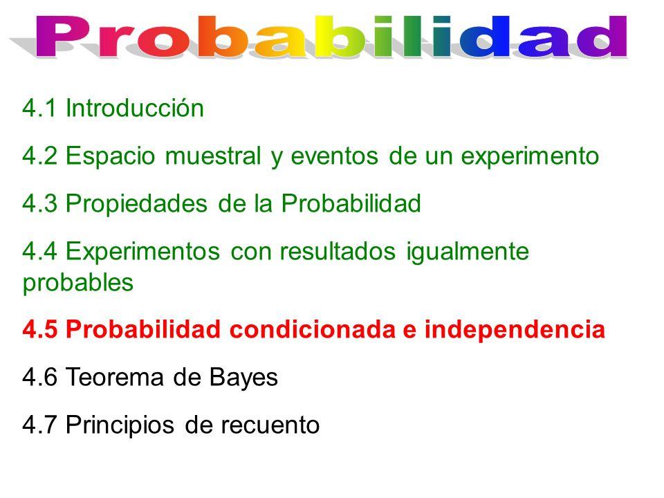 Probabilidad 4.1 Introducción