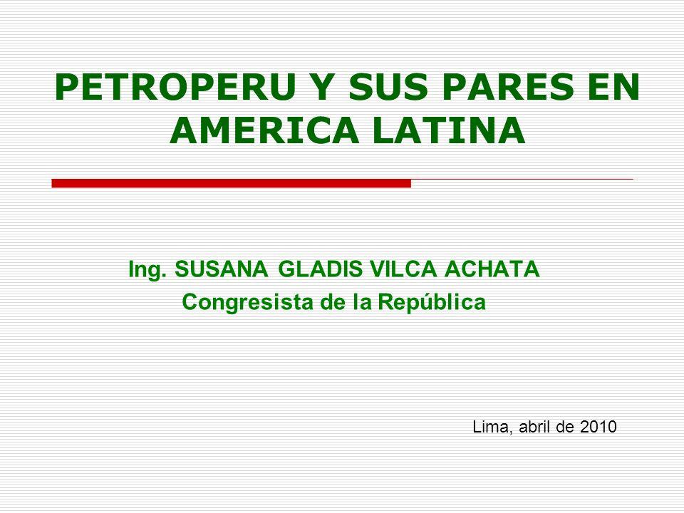 PETROPERU Y SUS PARES EN AMERICA LATINA