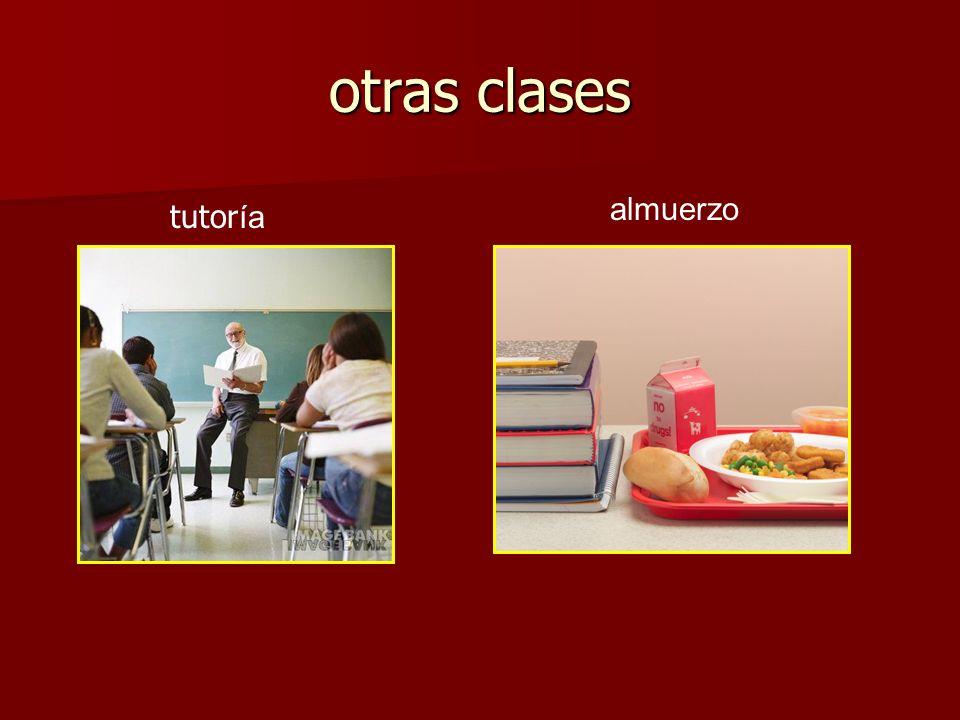 otras clases almuerzo tutoría