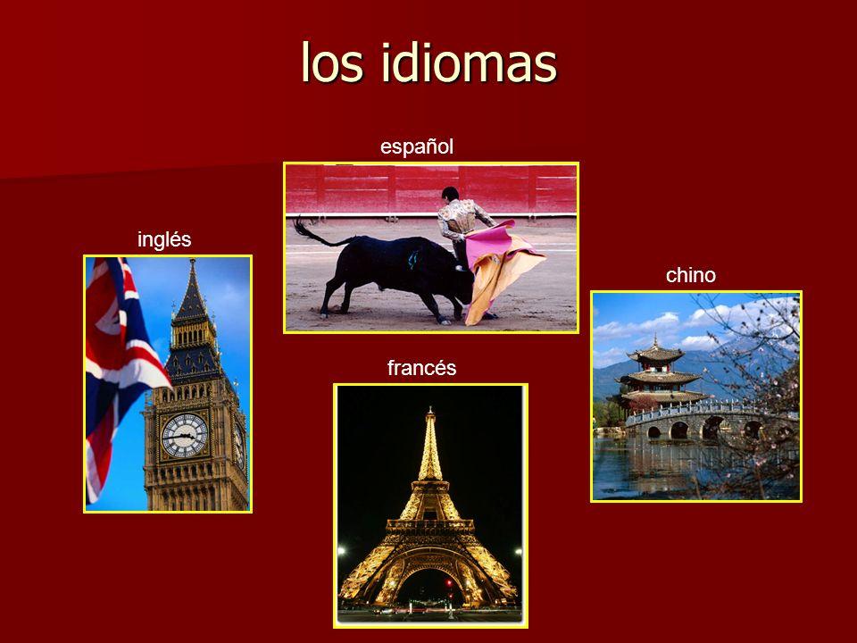 los idiomas español inglés chino francés