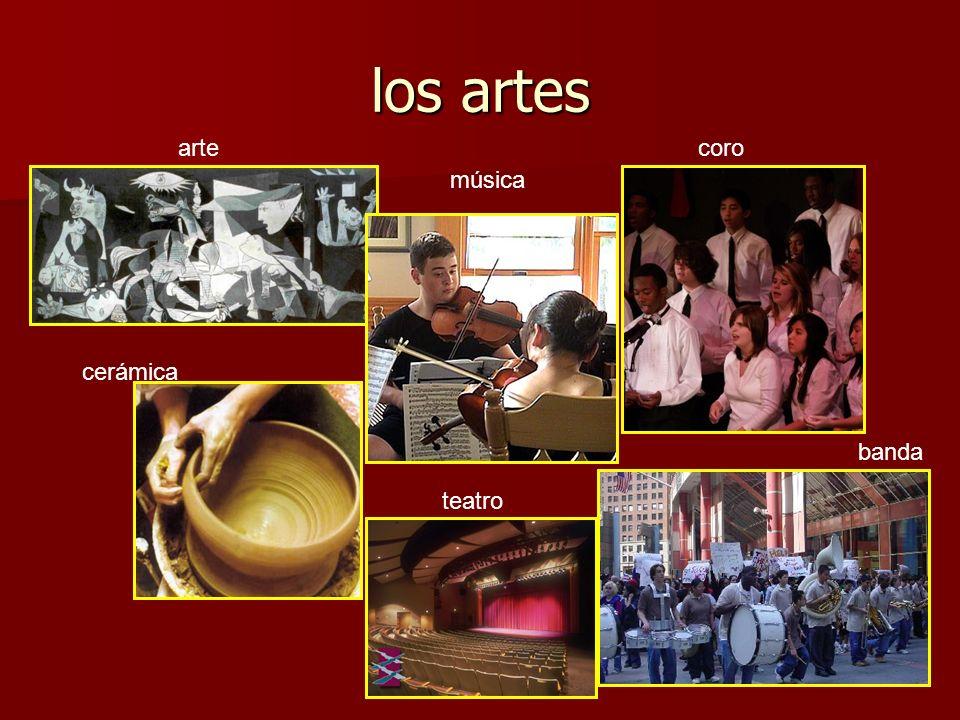 los artes arte coro música cerámica banda teatro