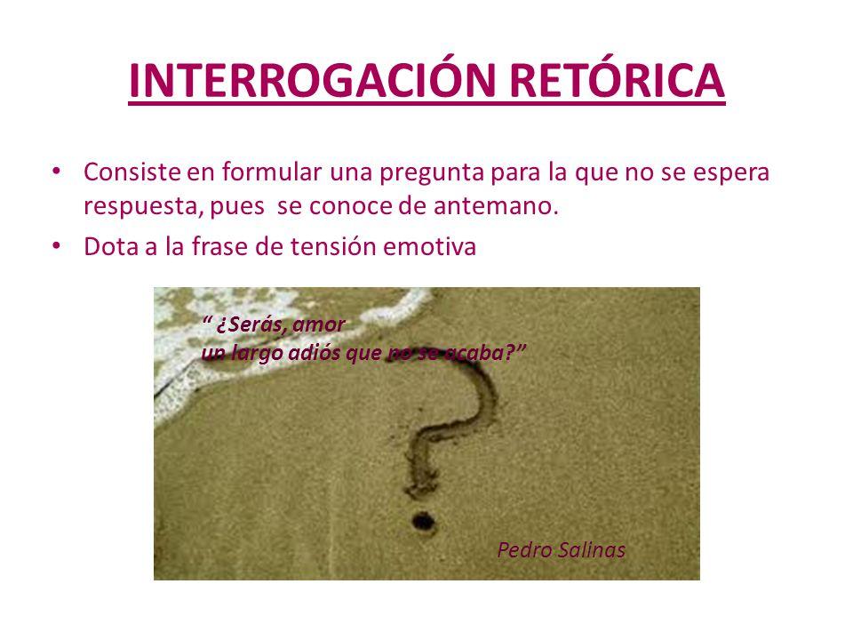 INTERROGACIÓN RETÓRICA