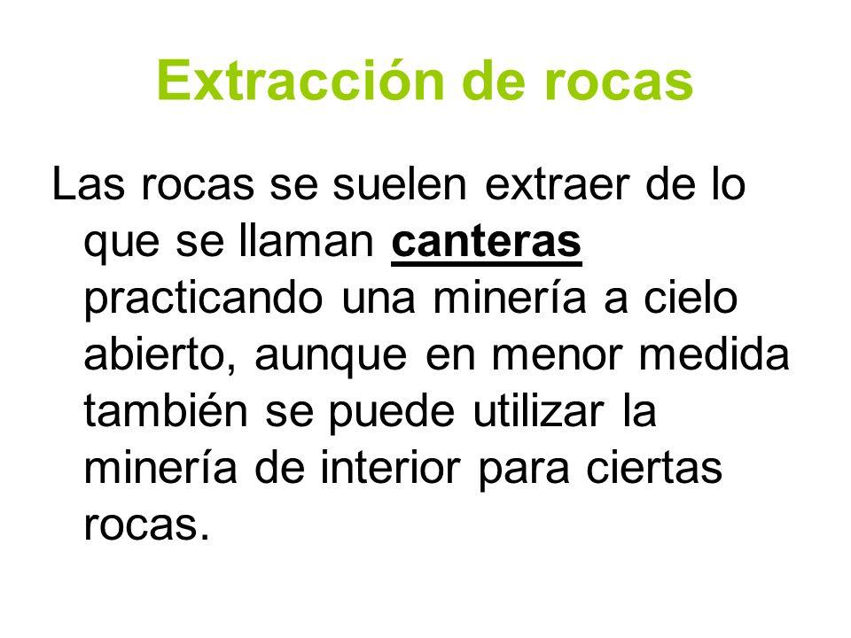 Extracción de rocas