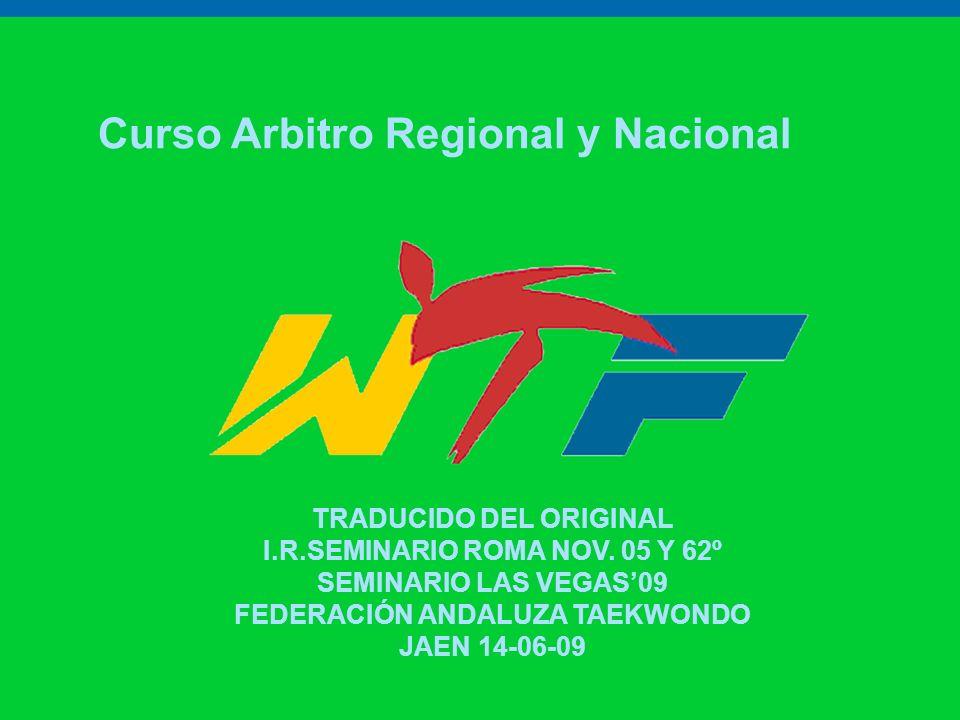 Curso Arbitro Regional y Nacional