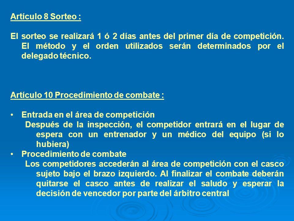 Artículo 8 Sorteo :