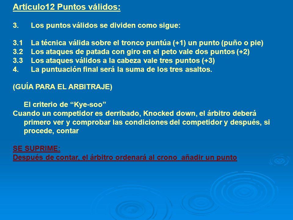 Artículo12 Puntos válidos: