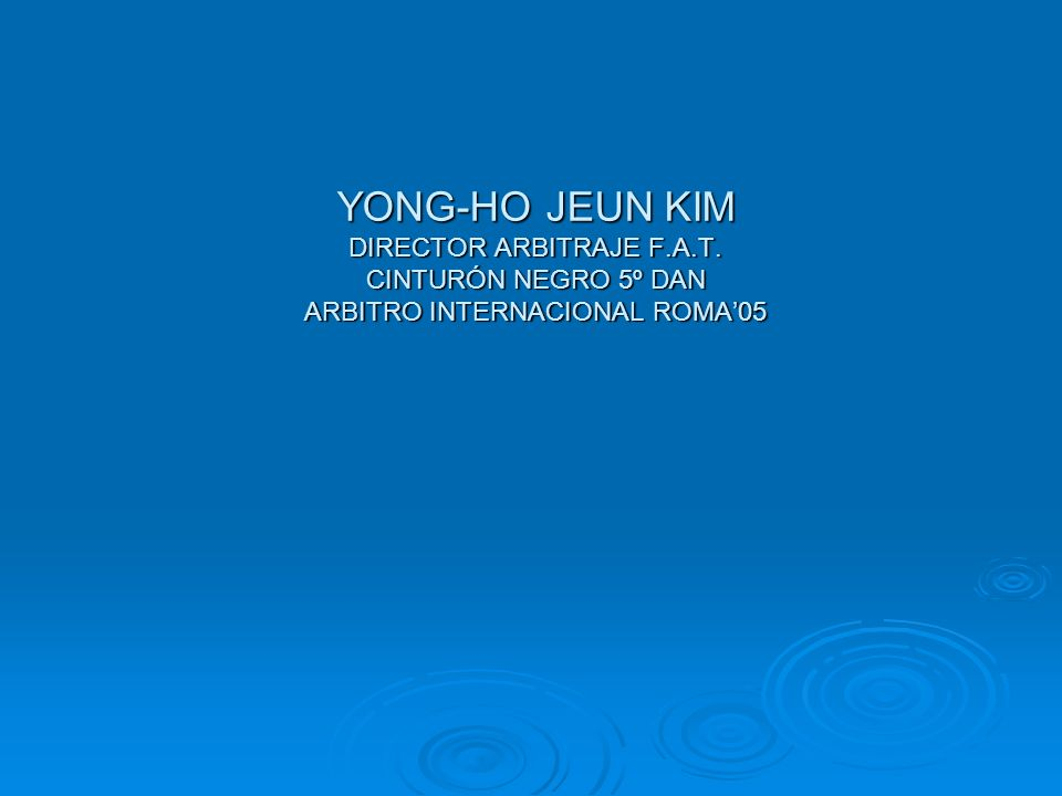 YONG-HO JEUN KIM DIRECTOR ARBITRAJE F. A. T