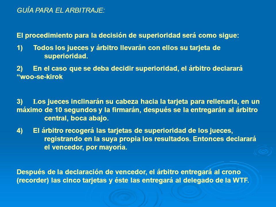 GUÍA PARA EL ARBITRAJE: