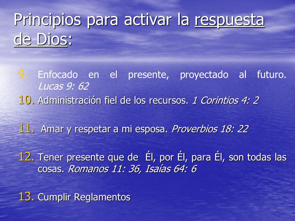 Principios para activar la respuesta de Dios: