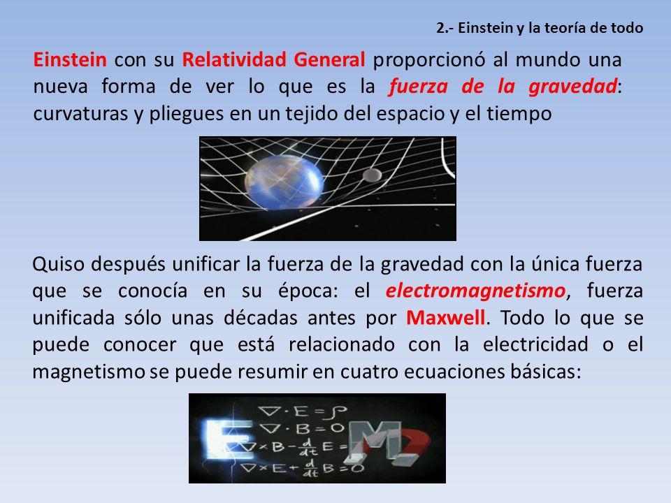 Resultado de imagen de La unificación del electromagnetismo y la gravitación