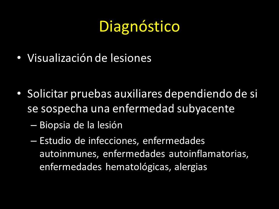 Diagnóstico Visualización de lesiones