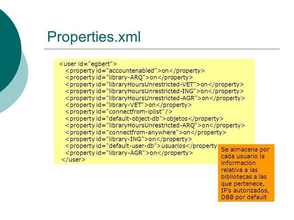 Properties.xml <user id= egbert >