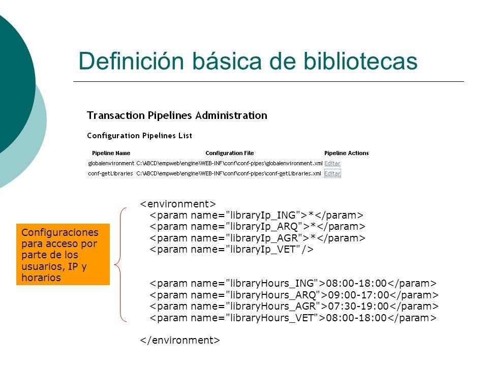 Definición básica de bibliotecas