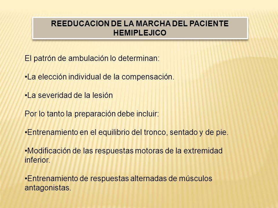 REEDUCACION DE LA MARCHA DEL PACIENTE HEMIPLEJICO