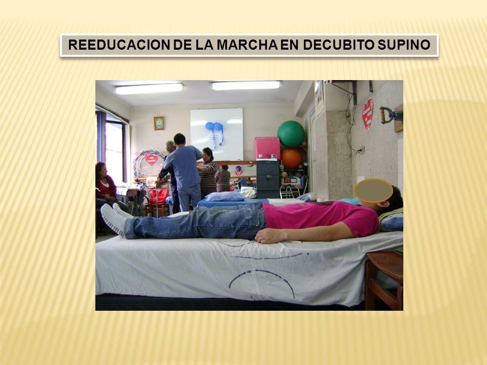 REEDUCACION DE LA MARCHA EN DECUBITO SUPINO