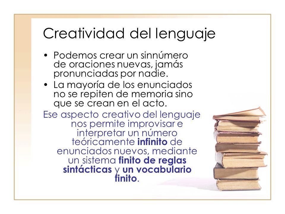 Creatividad del lenguaje