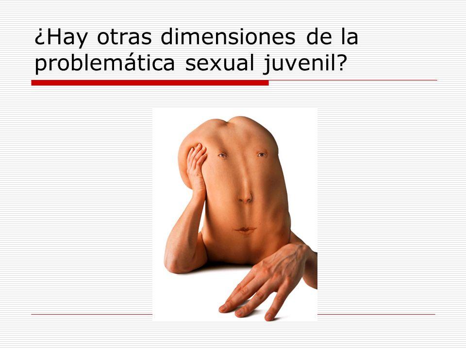 ¿Hay otras dimensiones de la problemática sexual juvenil