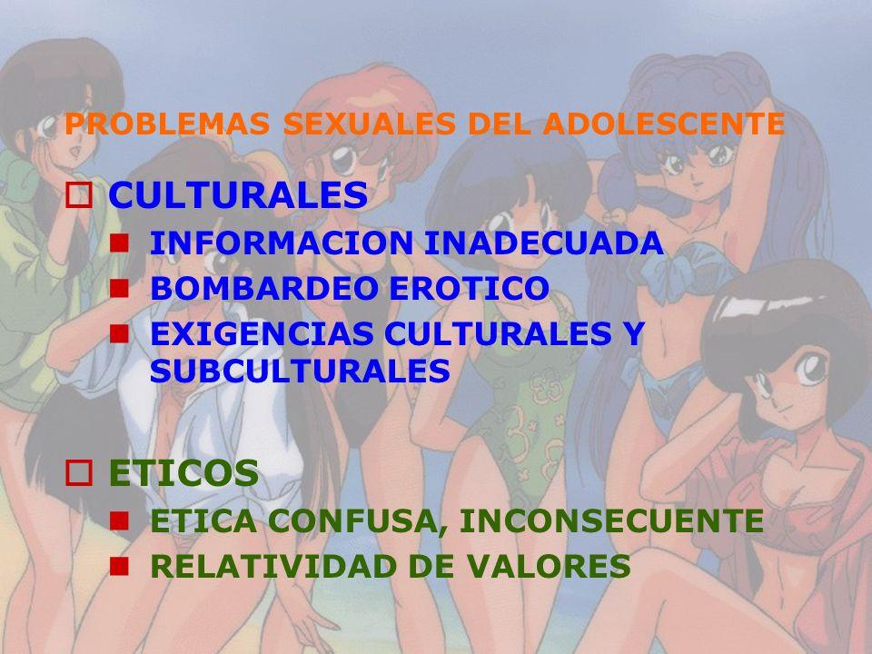 PROBLEMAS SEXUALES DEL ADOLESCENTE