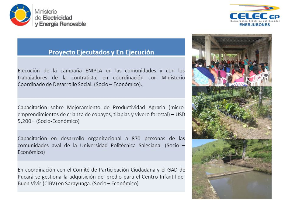 Proyecto hidroelectrico minas san francisco ppt video for Proyecto vivero forestal pdf
