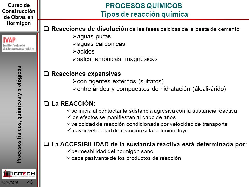 Ndice de la lecci n procesos f sicos procesos qu micos for Procesos quimicos en la cocina