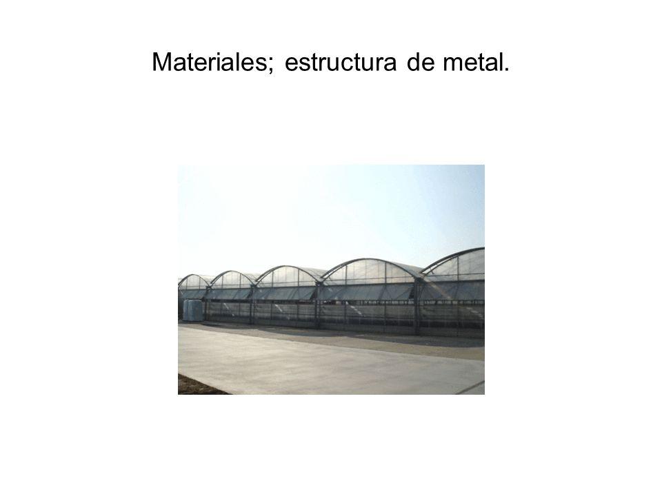 Semilleros y viveros instalaciones y materiales empleados - Estructura de metal ...