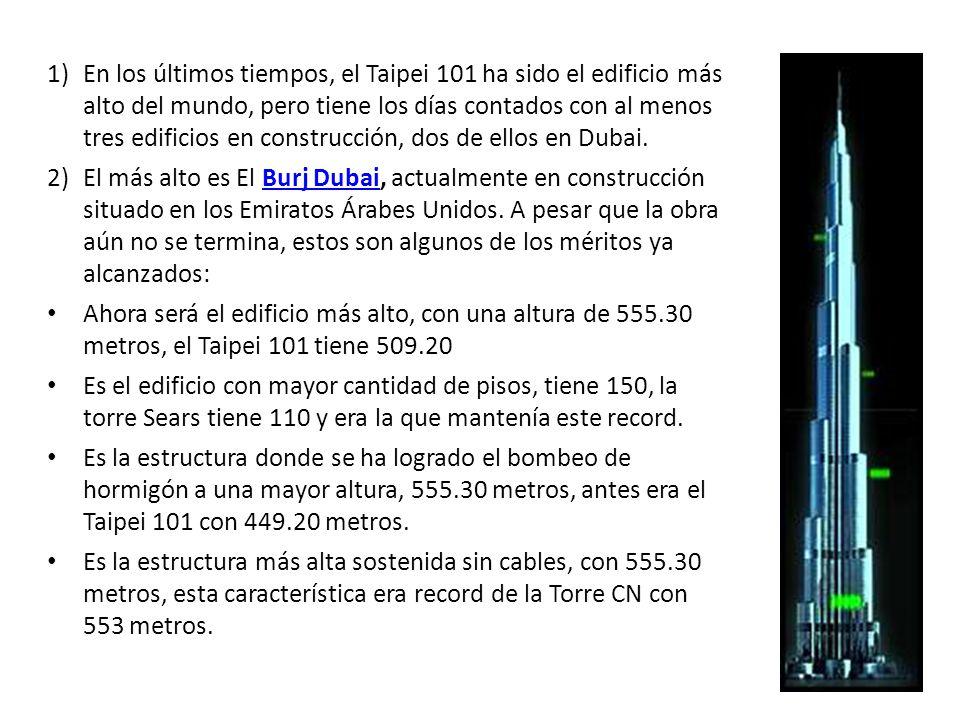 en los ltimos tiempos el taipei ha sido el edificio ms alto del mundo