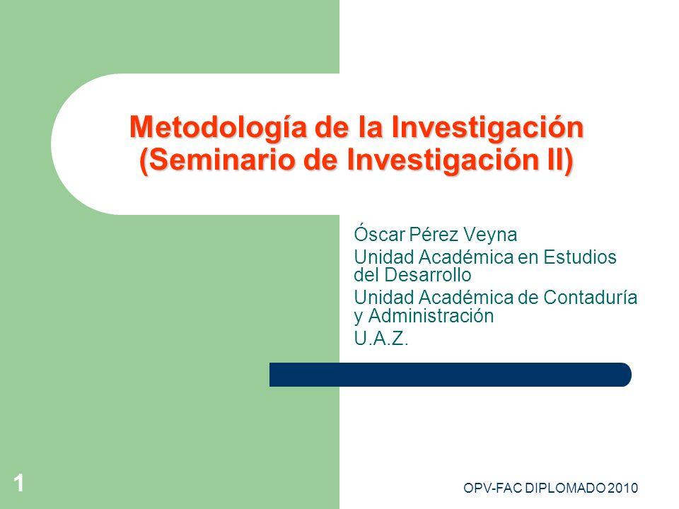 Metodología de la Investigación (Seminario de Investigación II)