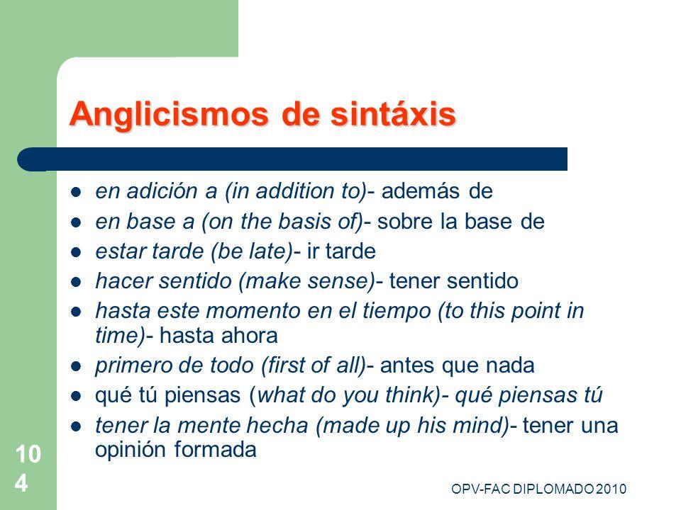 Anglicismos de sintáxis