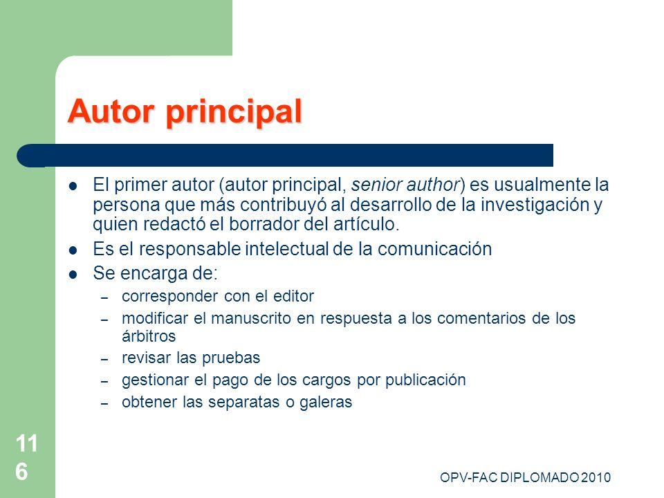 Autor principal
