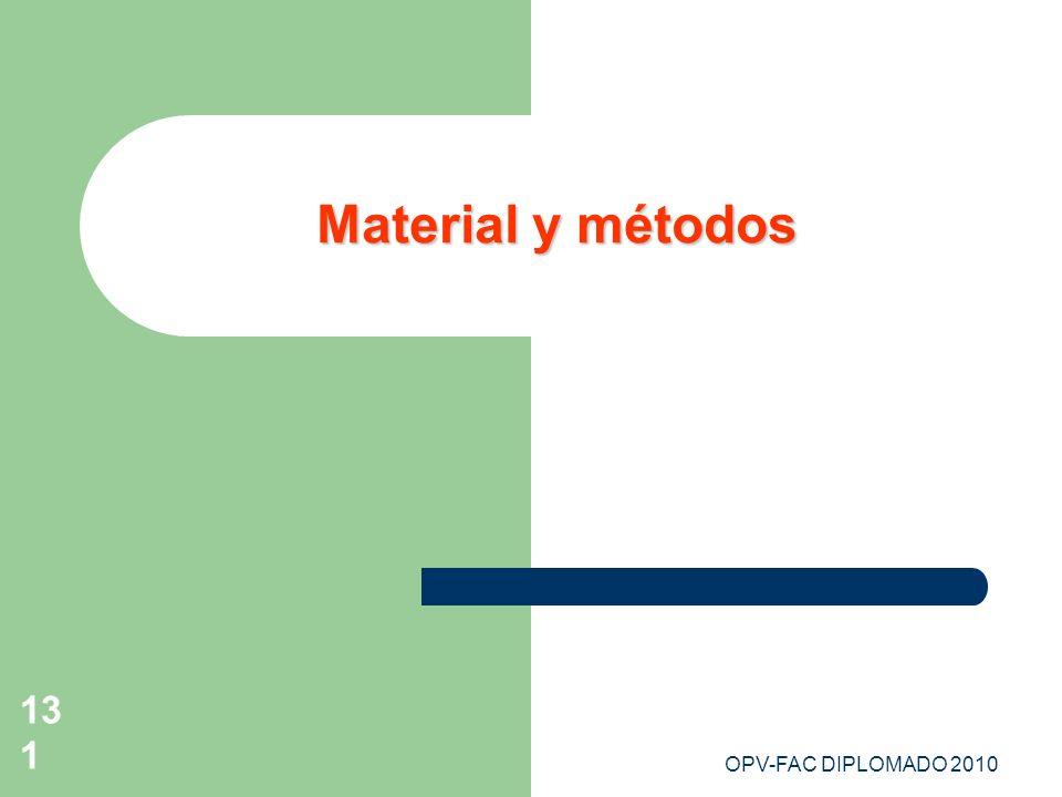 Material y métodos OPV-FAC DIPLOMADO 2010