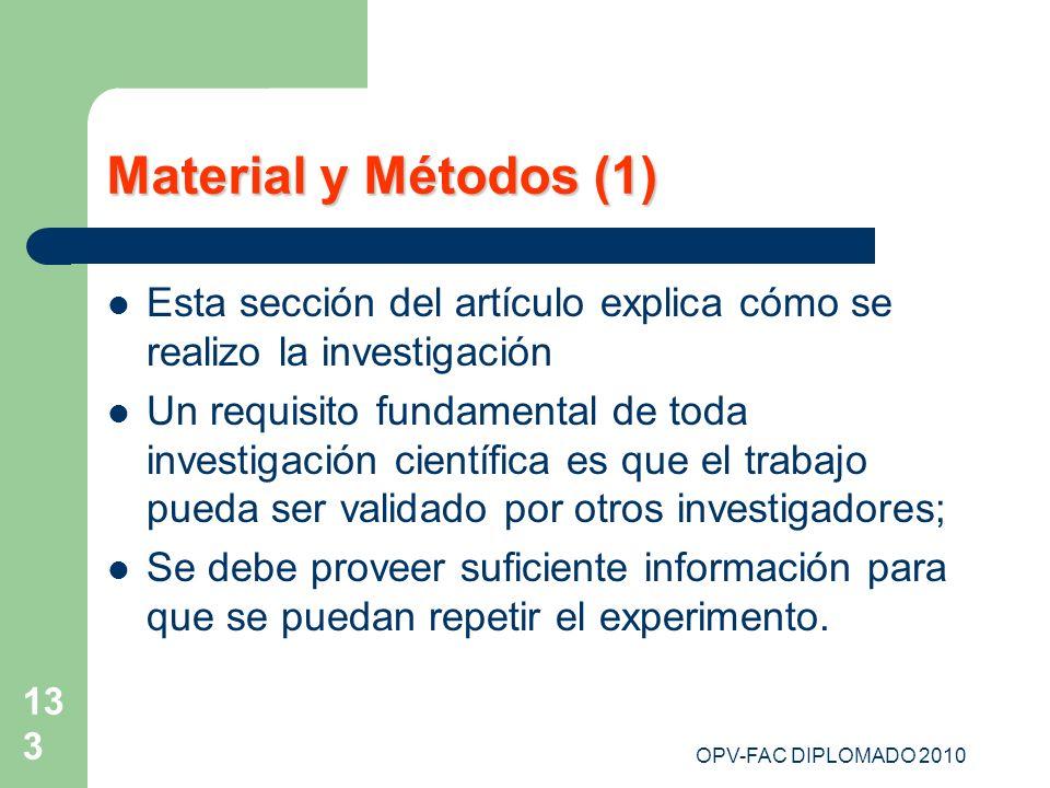 Material y Métodos (1) Esta sección del artículo explica cómo se realizo la investigación.