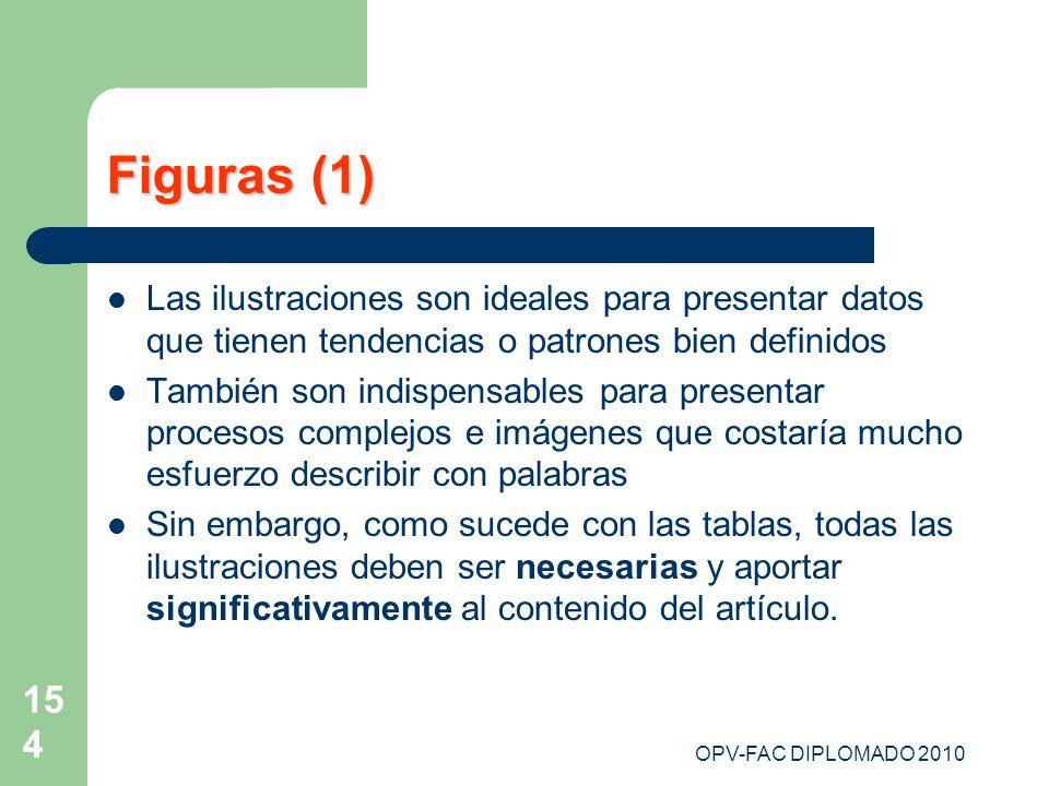 Figuras (1) Las ilustraciones son ideales para presentar datos que tienen tendencias o patrones bien definidos.