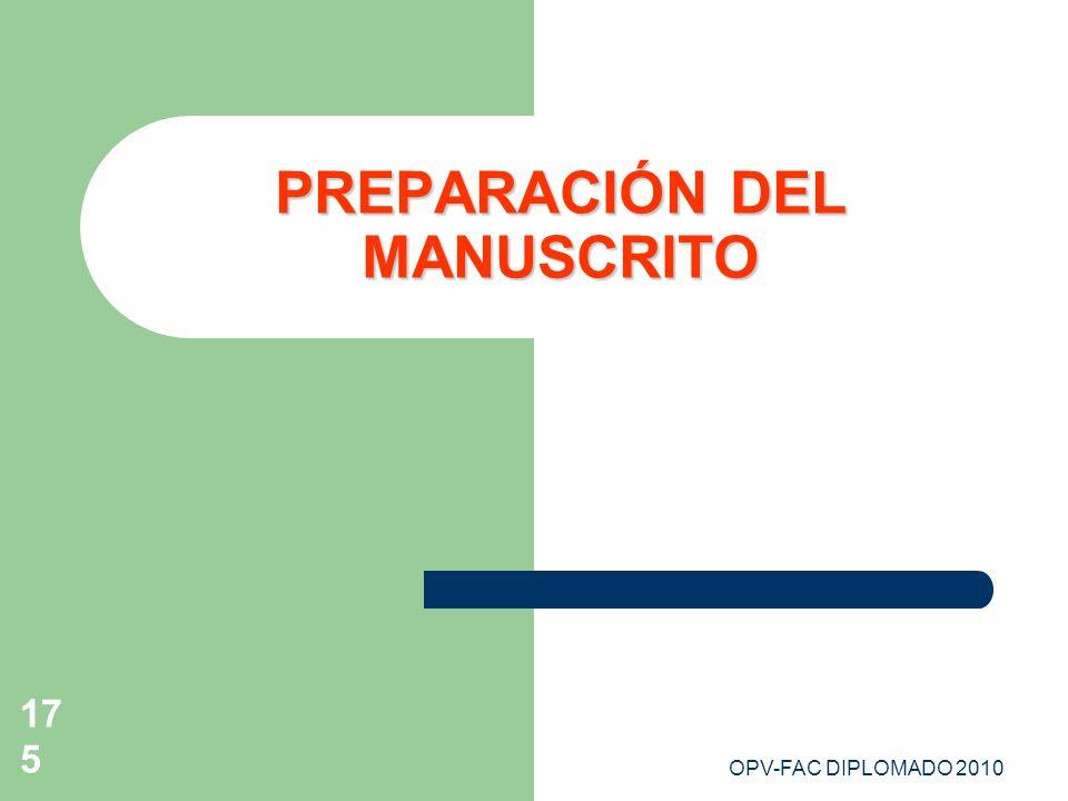PREPARACIÓN DEL MANUSCRITO