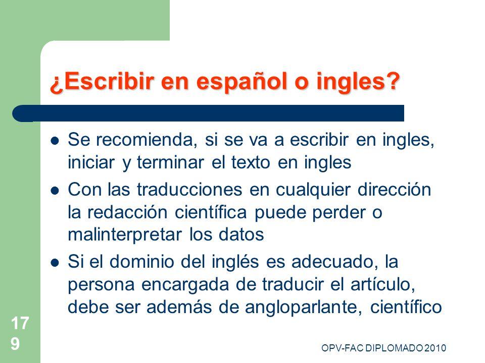 ¿Escribir en español o ingles