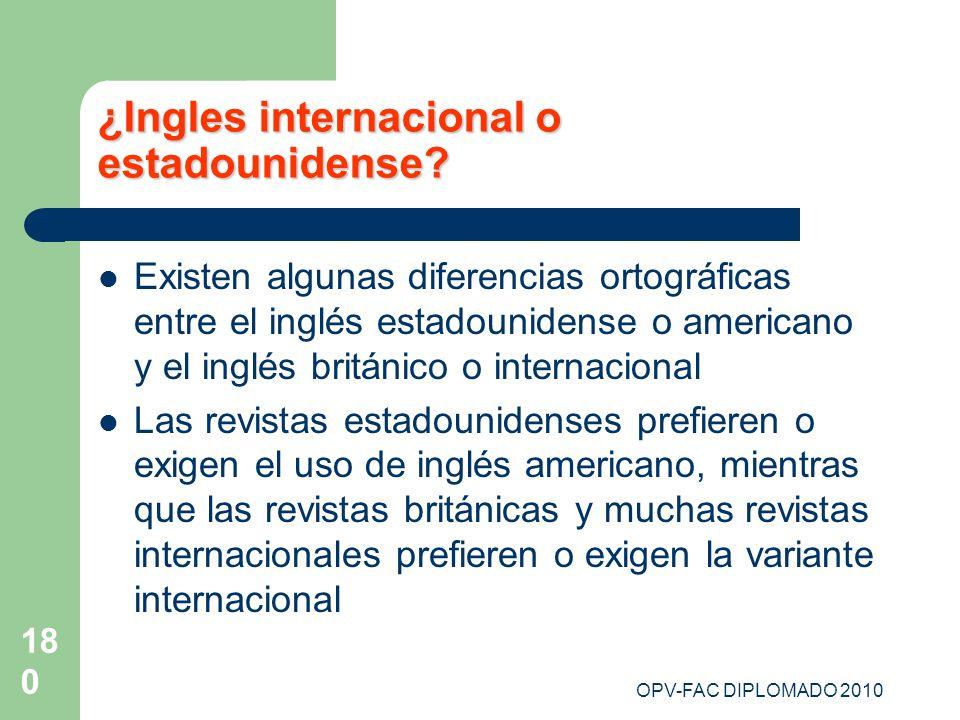 ¿Ingles internacional o estadounidense