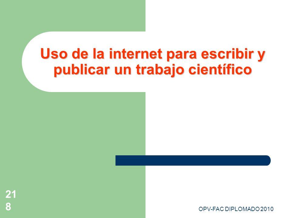 Uso de la internet para escribir y publicar un trabajo científico