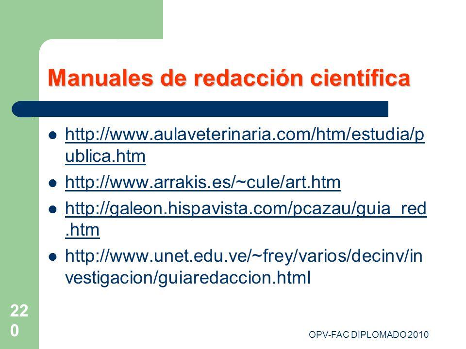 Manuales de redacción científica