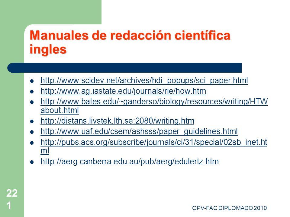 Manuales de redacción científica ingles