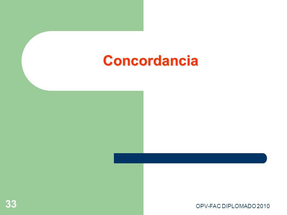 Concordancia OPV-FAC DIPLOMADO 2010