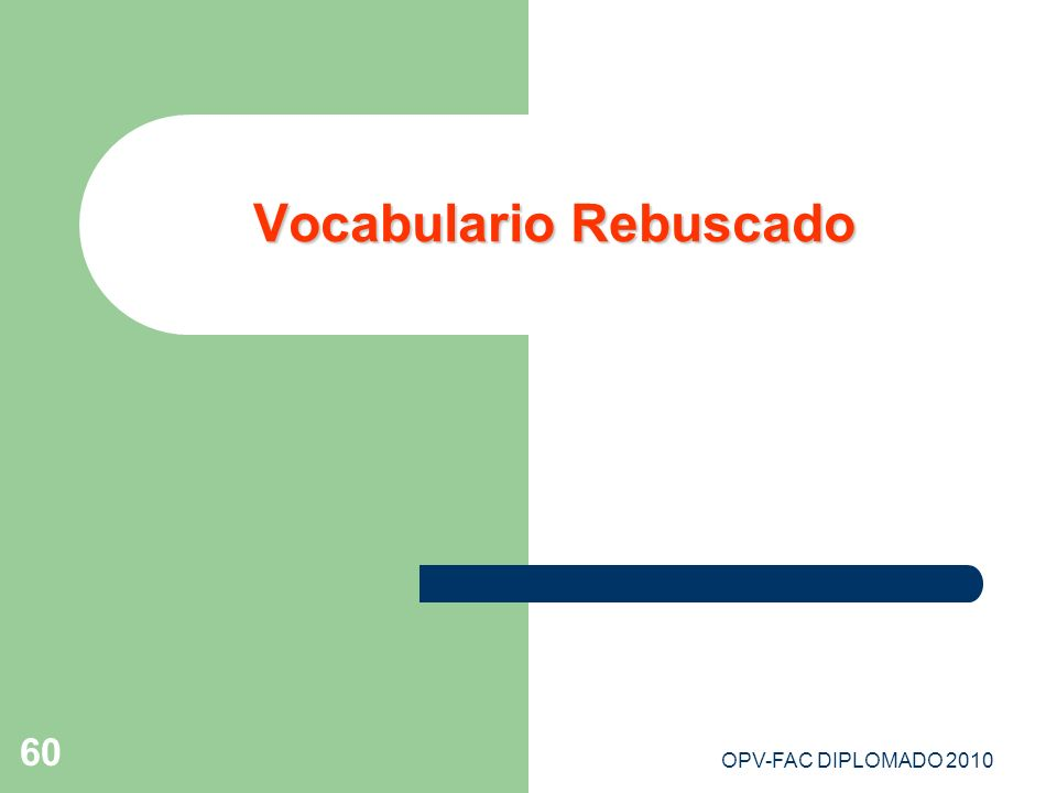 Vocabulario Rebuscado