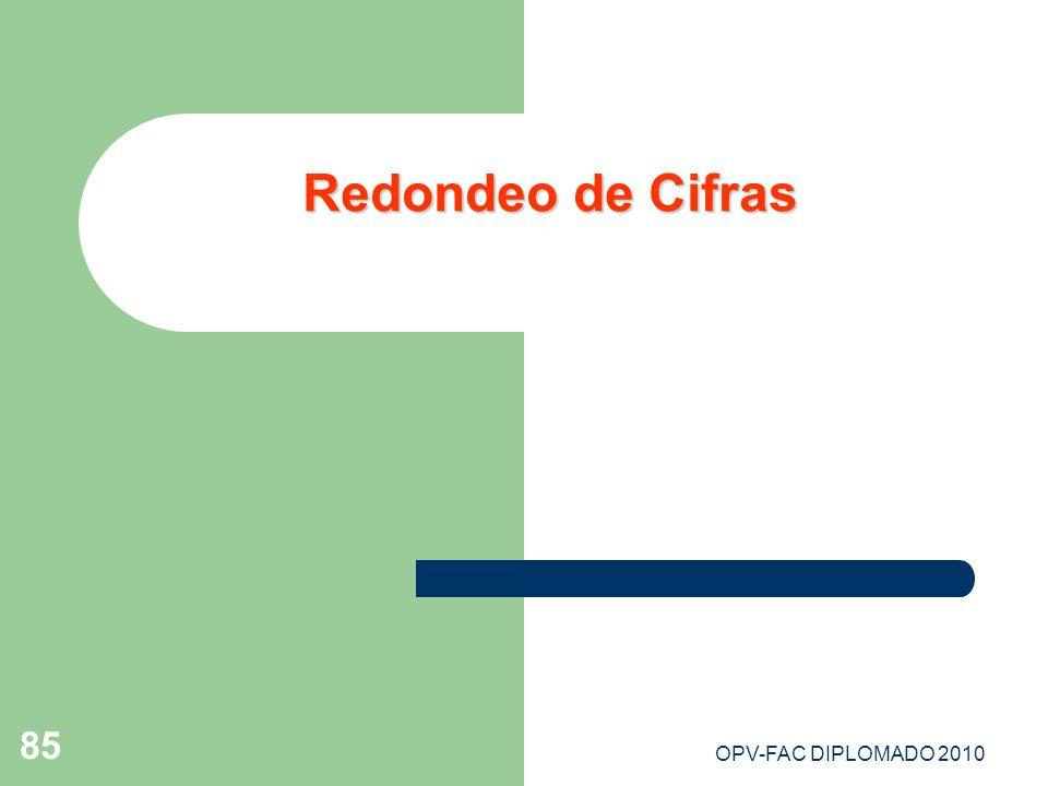 Redondeo de Cifras OPV-FAC DIPLOMADO 2010