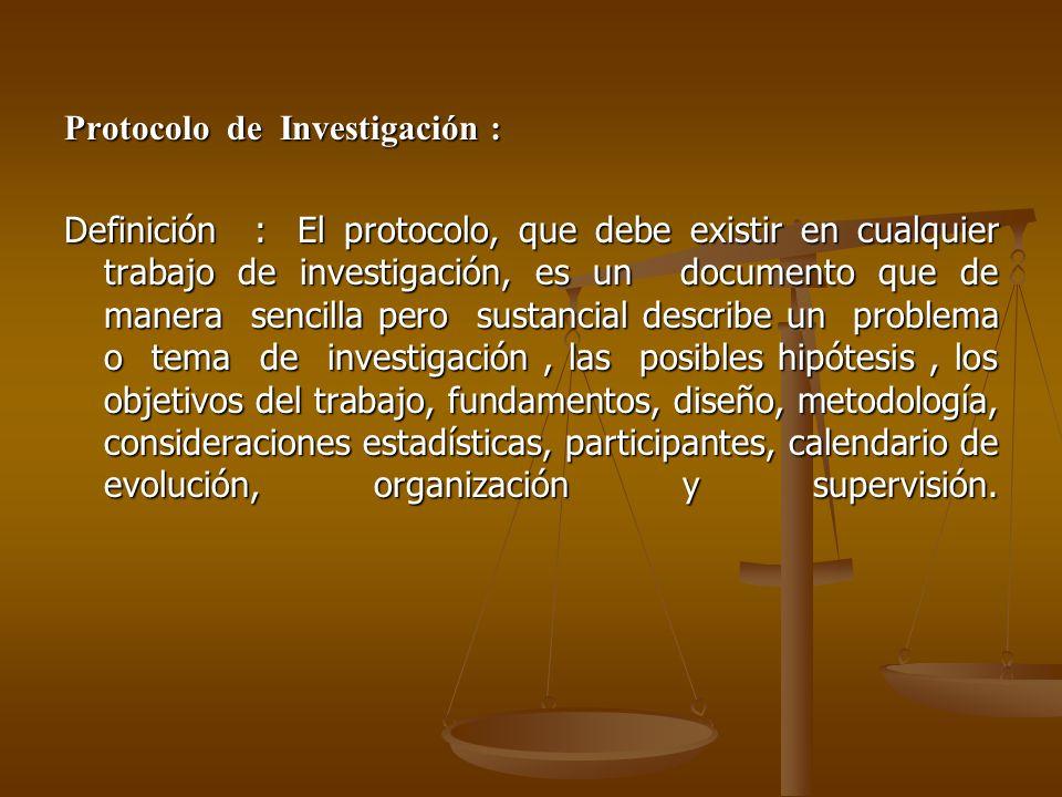 Protocolo de Investigación :