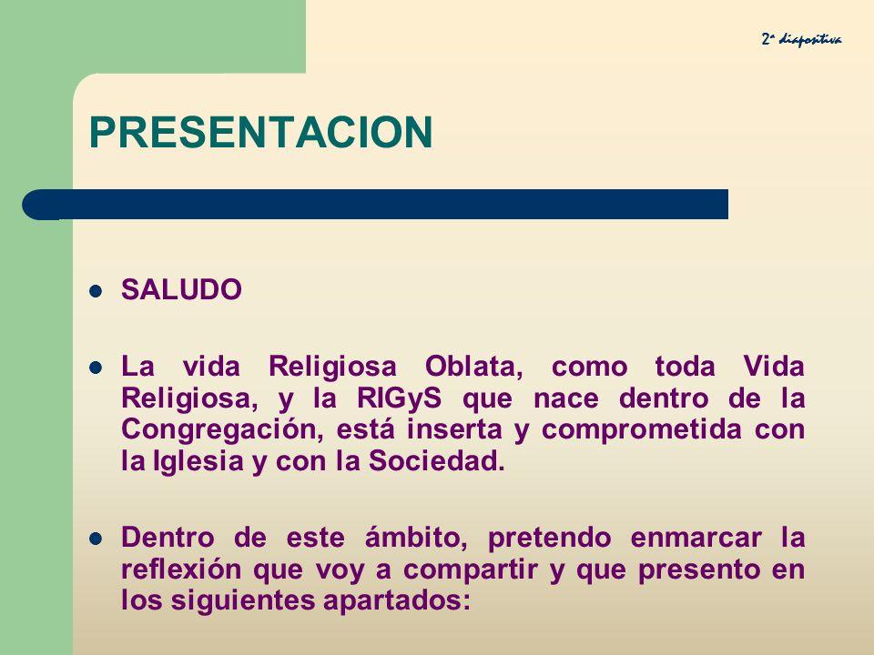 2a diapositiva PRESENTACION. SALUDO.