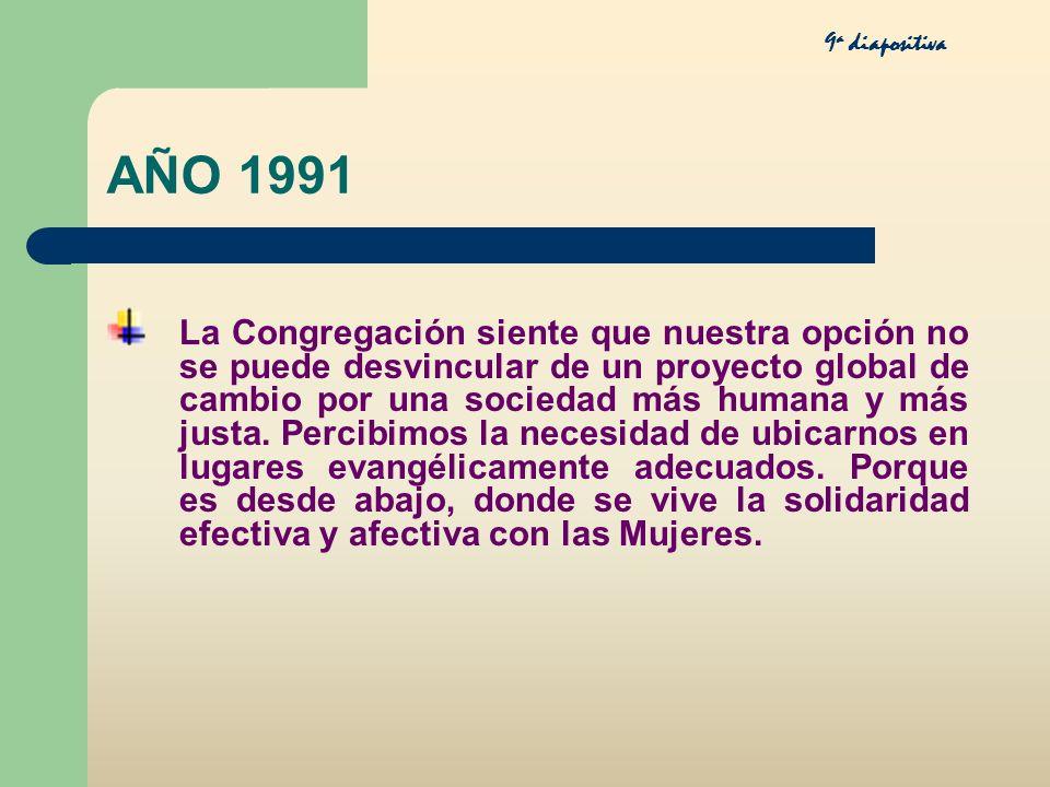 9a diapositiva AÑO 1991.