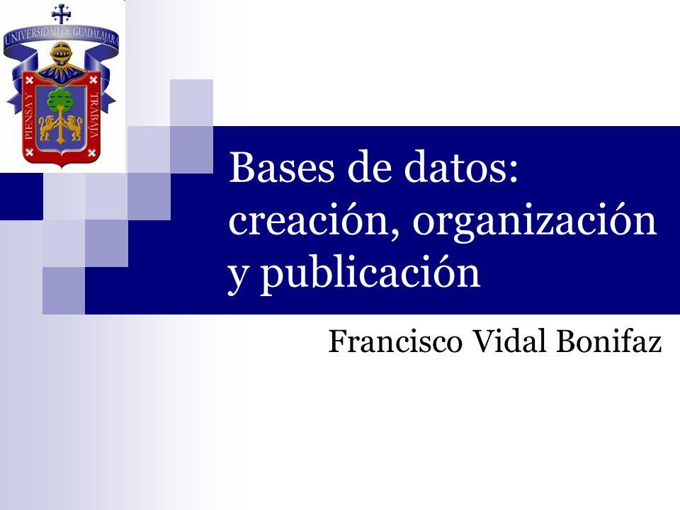 Bases de datos: creación, organización y publicación