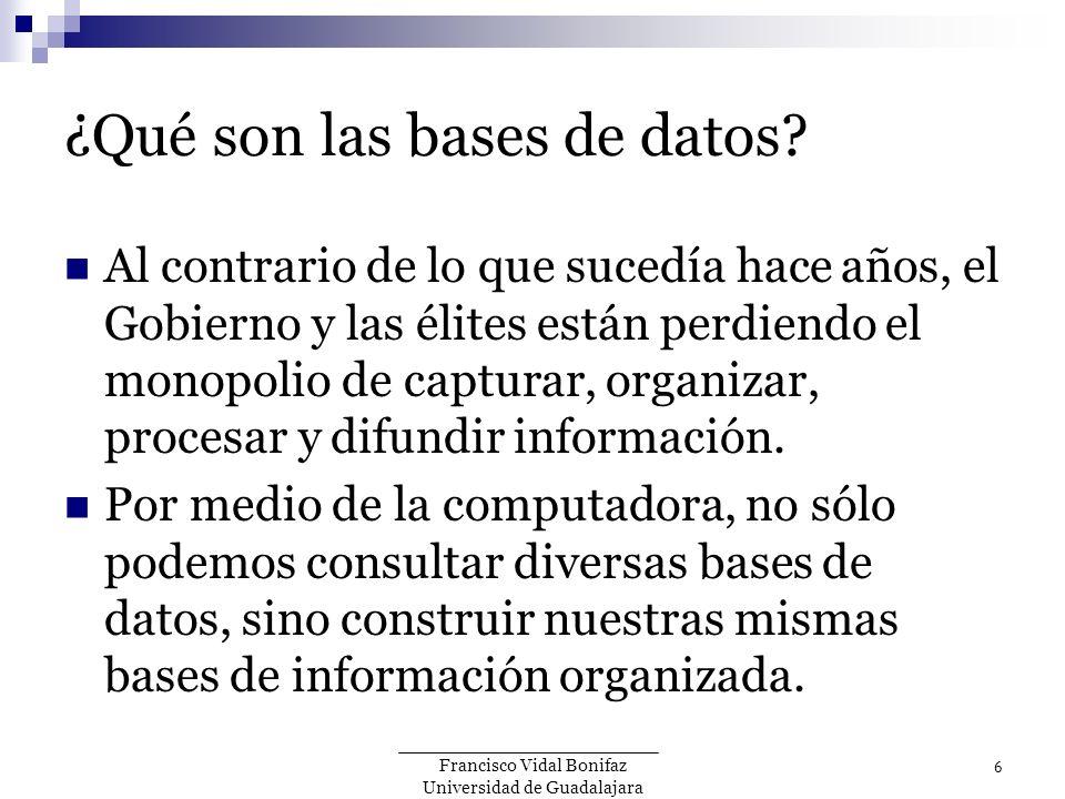 ¿Qué son las bases de datos