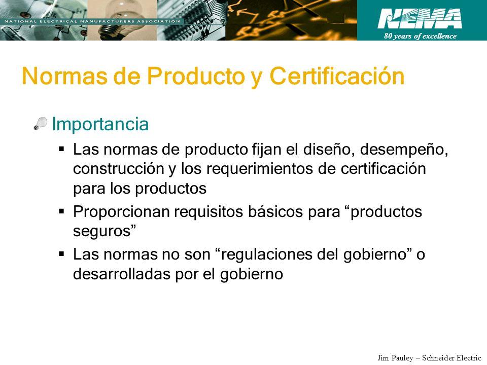 Normas de Producto y Certificación