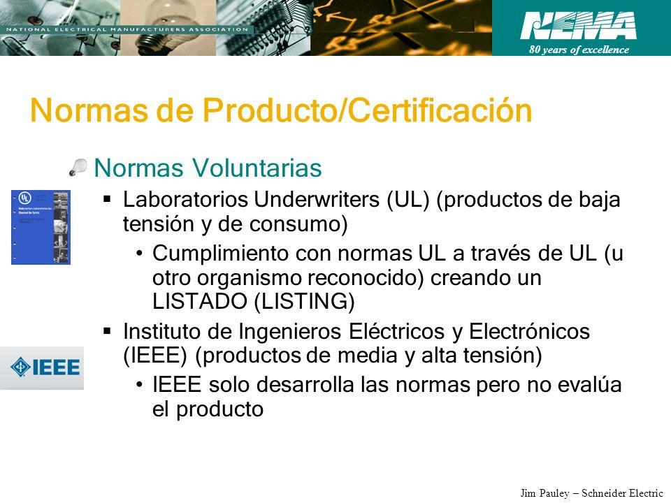 Normas de Producto/Certificación