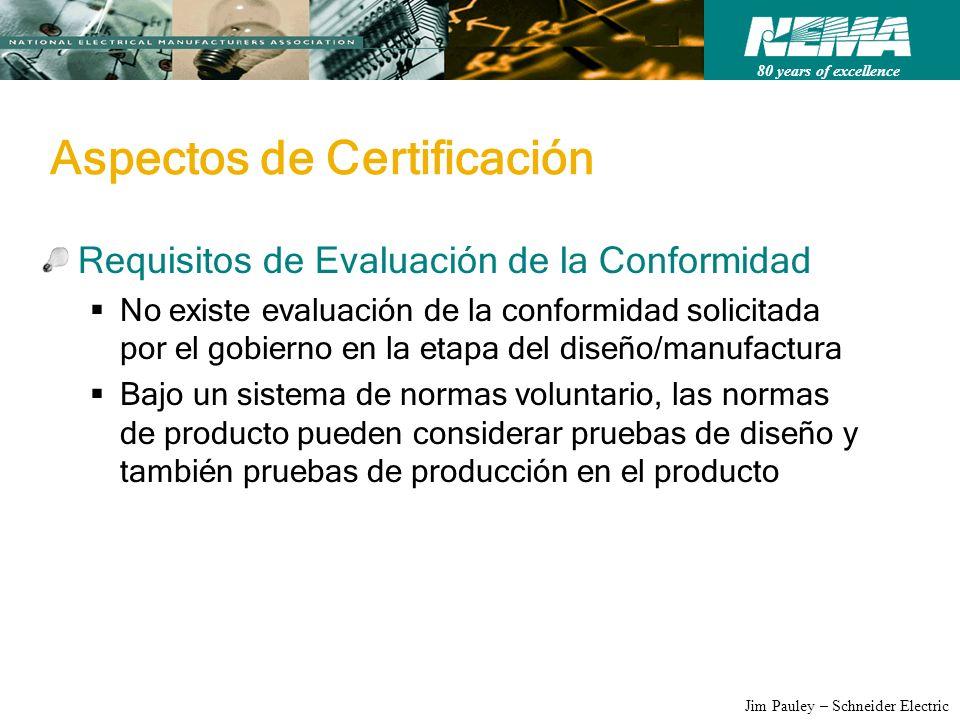 Aspectos de Certificación